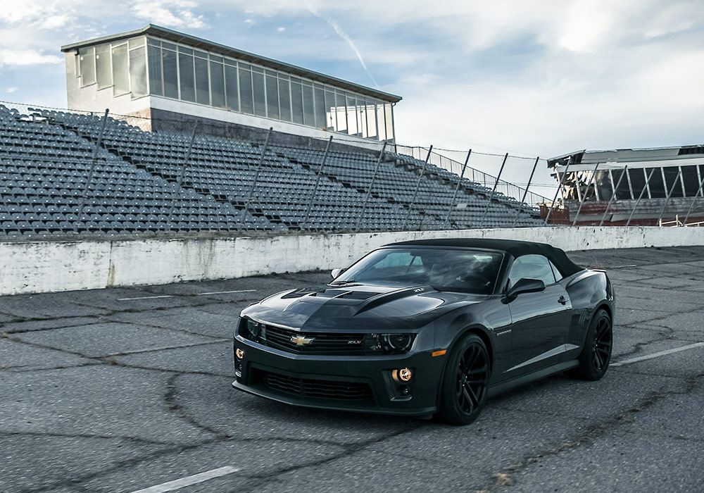 Jeff Gordon's 2013 Chevrolet Camaro ZL1 Convertible on the track